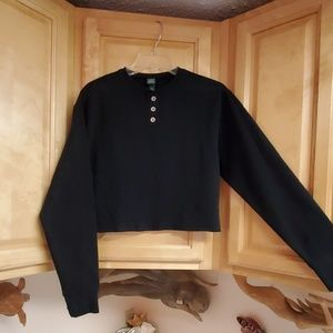 NWT Wild Fable Cropped Sweatshirt With Buttons XS